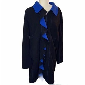 Susan Graver zippered full length fleece jacket